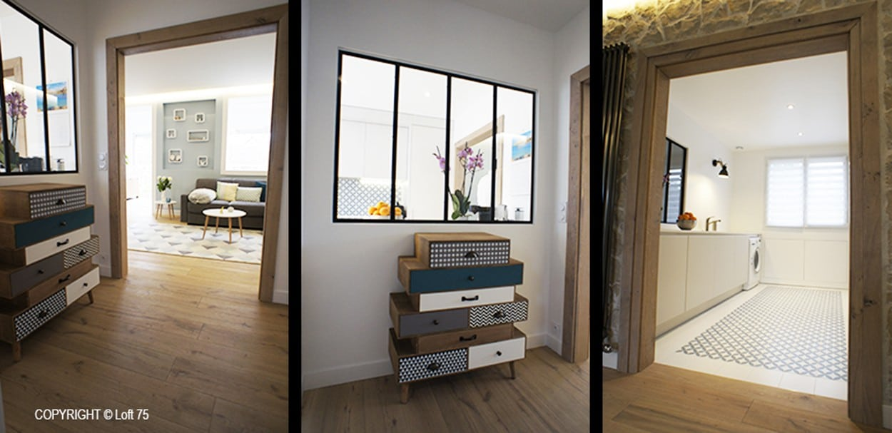 Rénovation et restructuration de l'espace Salon et cuisine d'une maison familiale - Fontenay-aux-Roses - Hauts de Seine