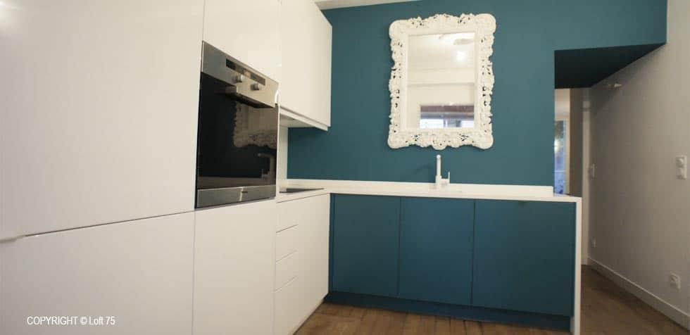 Appartement Paris rénovation cuisine