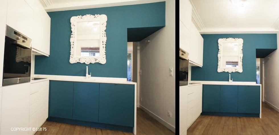 Appartement Paris rénovation cuisine et salle de bains