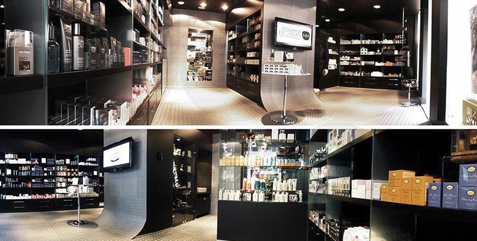 Travaux Shop Cosmétique Comptoir de l'Homme boutique rue de Tournon Paris 6ème 75006 Loft 75 Design et Architecture d'Intérieur