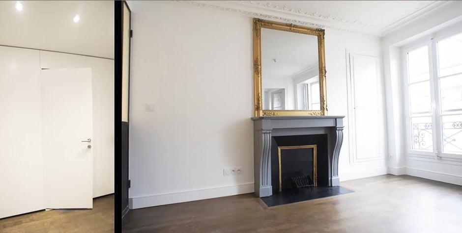 Pigalle réhabilitation 2 pièces particulier rue blanche Paris 10ème 75010 loft75 architecture d'intérieur et design