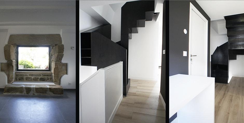 Finistère réhabilitation Pentis Maison de Pêcheur Bretagne Audierne 29 loft75 architecture d'intérieur et décoration