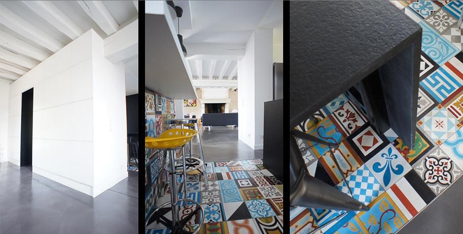 Rénovation Cuisine Séjour Salle-à-Manger Andilly 95 Val-d'Oise Loft 75 Design & Architecture d'Intérieur