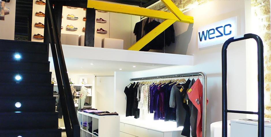 Travaux Shop Street Wear WeSC boutique rue Tiquetone Paris 2ème 75002 Loft 75 Design et Architecture d'Intérieur