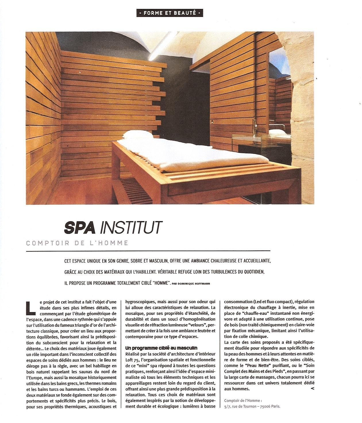 Article sur Loft75 design architecture d'intérieur
