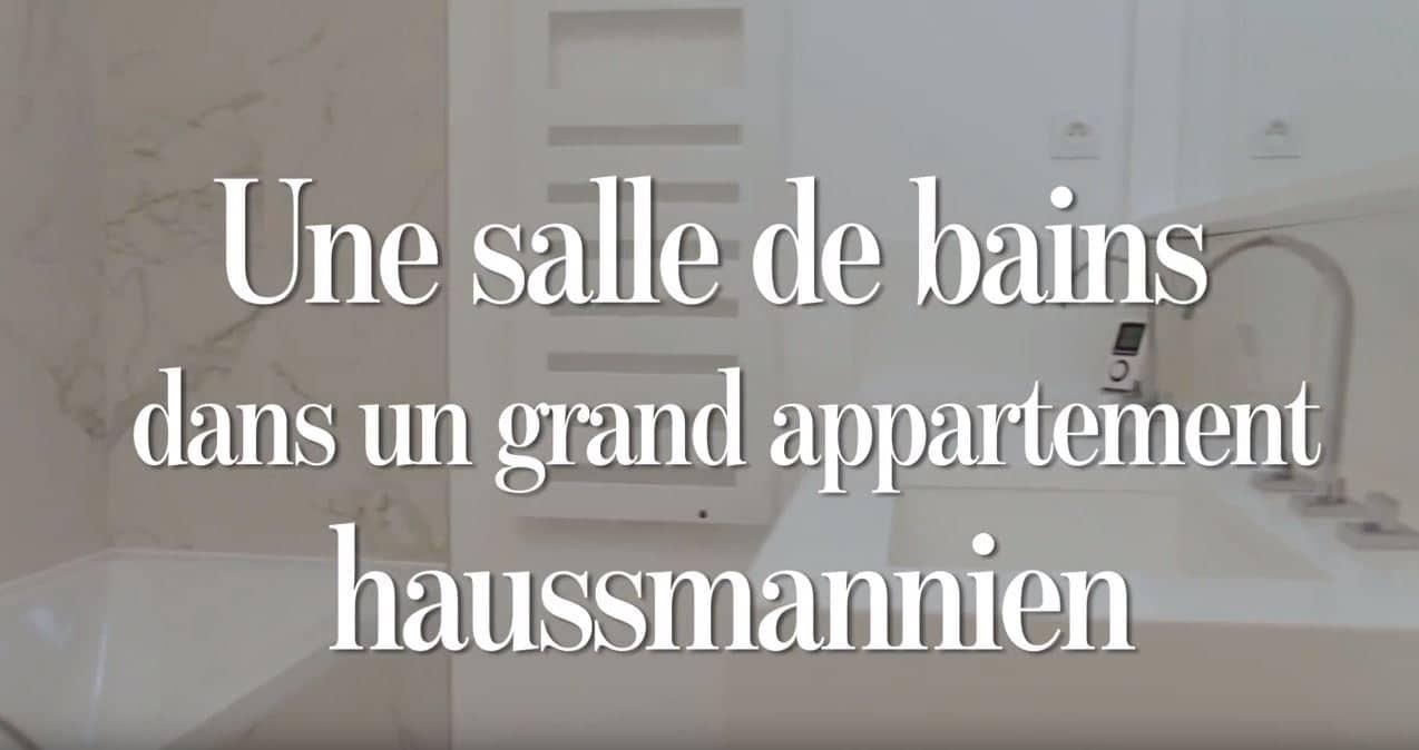 Reportage sur une salle de bains dans un appartement haussmannien