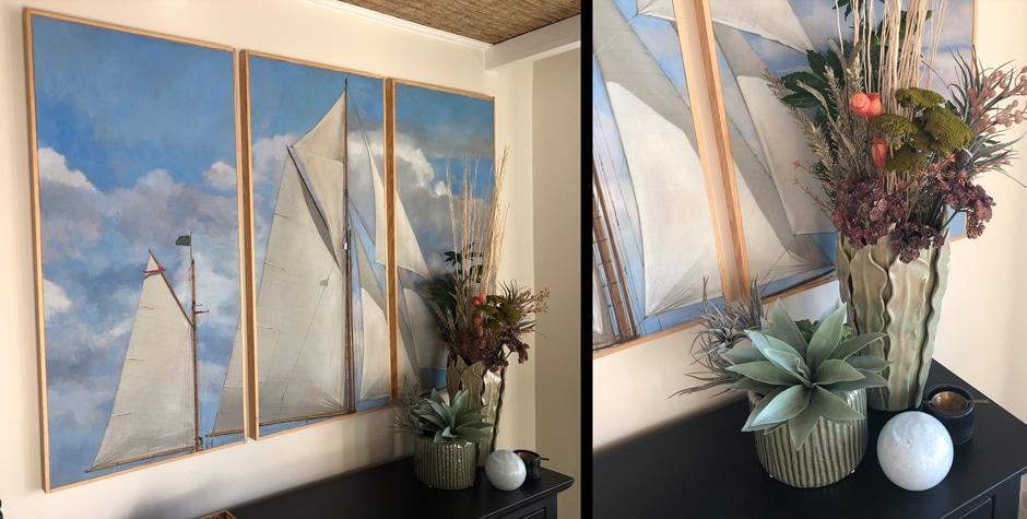 Rénovation et décoration d'un appartement terrasse Golfe de Saint-Tropez 83 VAR Marines-de-Cogolin design by Loft 75 - Design & Architecture d'Intérieur Paris Saint-Cloud Fontainebleau Saint-Tropez